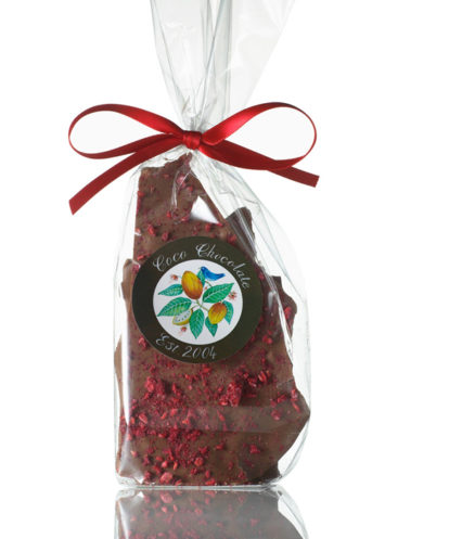 Organic Chocolate with Raspberries